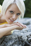 Beautiful charming young blond girl Royalty Free Stock Photo