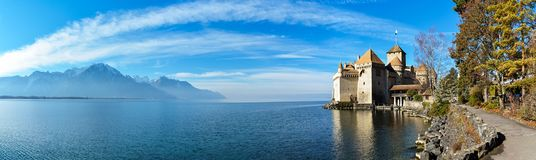 Beautiful Chateau De Chillon lizenzfreies stockfoto