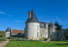 The beautiful chateau in the Loire royalty free stock image