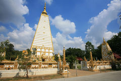 Beautiful chedi at Wat Phrathat Nong Bua Royalty Free Stock Photo
