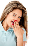 Beautiful cheeky woman Stock Photo