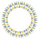 Beautiful and cheerful flags or pennants painted Stock Photos