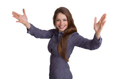 Beautiful cheerful optimistic girl Stock Image