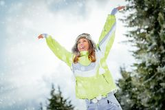 Celebrating Winter Vacations Stock Photography