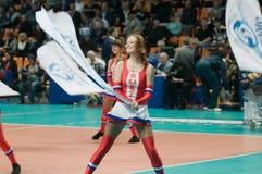 Beautiful Cheerleader Stock Images