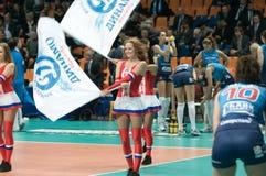 Beautiful Cheerleader Stock Photography