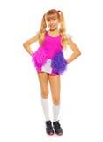Blond cheerleader girl Royalty Free Stock Photo