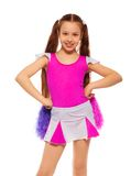 Cheerleader girl Royalty Free Stock Photos
