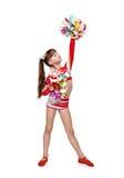 Beautiful cheerleader girl Royalty Free Stock Photography