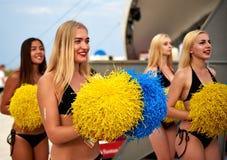 Beautiful cheerleader girls royalty free stock images