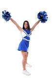 Beautiful Cheerleader Teen With Braces Royalty Free Stock Photos