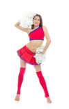 Beautiful cheerleader woman dancer girl Royalty Free Stock Photos