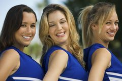 Beautiful Cheerleaders Smiling Royalty Free Stock Photo