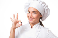 The beautiful chef. Royalty Free Stock Photography