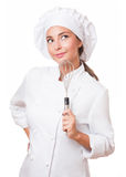 The beautiful chef. Stock Image