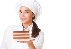 The beautiful chef. Stock Images
