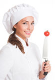 The beautiful chef. Stock Photos