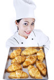 Croissant is ready Stock Images