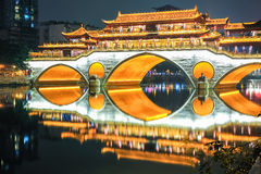 Beautiful chengdu anshun bridge closeup Stock Photography