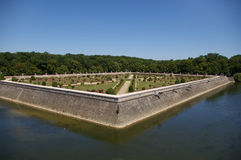 Beautiful Chenonceau gardens Royalty Free Stock Photography