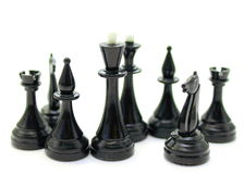 Beautiful of chess pieces on a white back Stock Photos