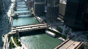 Beautiful chicago bridge timelapse stock video
