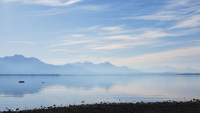 Beautiful Chiemsee and mountains of Alps in Germany Royalty Free Stock Image