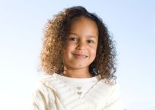 A beautiful child. A beautiful mixed race 5 year old girl Stock Photography