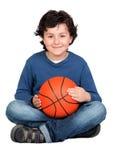 Beautiful child with basket ball Stock Photo