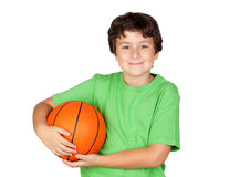 Beautiful child with basket ball Stock Photography