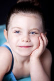 Beautiful child dancer studio portrait Stock Photography