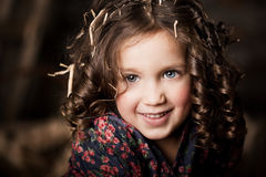 Beautiful  child on the farm Royalty Free Stock Photos