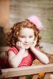 Beautiful  child on the farm Royalty Free Stock Photo