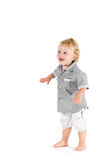 Beautiful child first steps Stock Photos