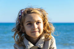 Beautiful child girl autumn portrait Stock Photography