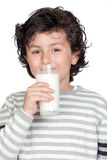 Beautiful child with glass of milk Stock Images