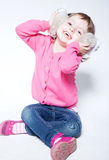 Beautiful child in joy Royalty Free Stock Photo