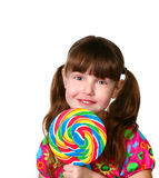 Beautiful  Child With Lollipop Royalty Free Stock Photography