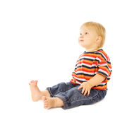 Beautiful Child Looking Up Royalty Free Stock Image