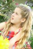 Beautiful child outside Stock Images