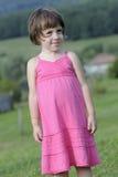Beautiful Child Playing As Model Stock Photography