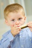 Beautiful child playing Stock Photo