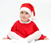 Beautiful child in santa claus hat Stock Photography