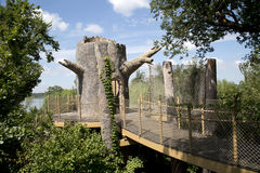 Beautiful Children adventure garden. Interior of Children adventure garden in Dallas Arboretum, TX USA Royalty Free Stock Images