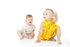 Beautiful children play Royalty Free Stock Photos