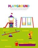 Beautiful children playground icon Royalty Free Stock Photos