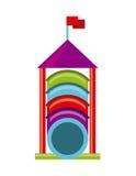 Beautiful children playground icon Stock Photo