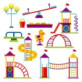 Beautiful children playground icon. Vector illustration design Stock Image
