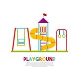 Beautiful children playground icon Royalty Free Stock Photo