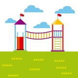 Beautiful children playground icon Stock Photography